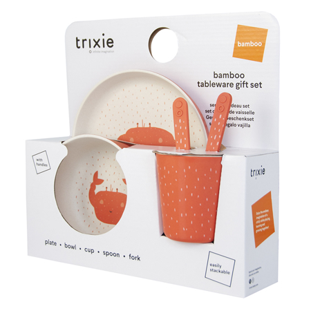Picture of Trixie Baby® Tableware gift set - Mrs. Crab