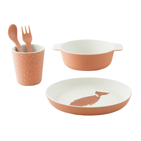 Trixie Baby® Tableware gift set - Mr. Fox