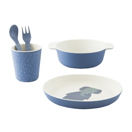 Picture of Trixie Baby® Tableware gift set - Mrs. Elephant