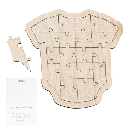 Picture of Ginger Ray® Wooden Baby Grow Guest Book