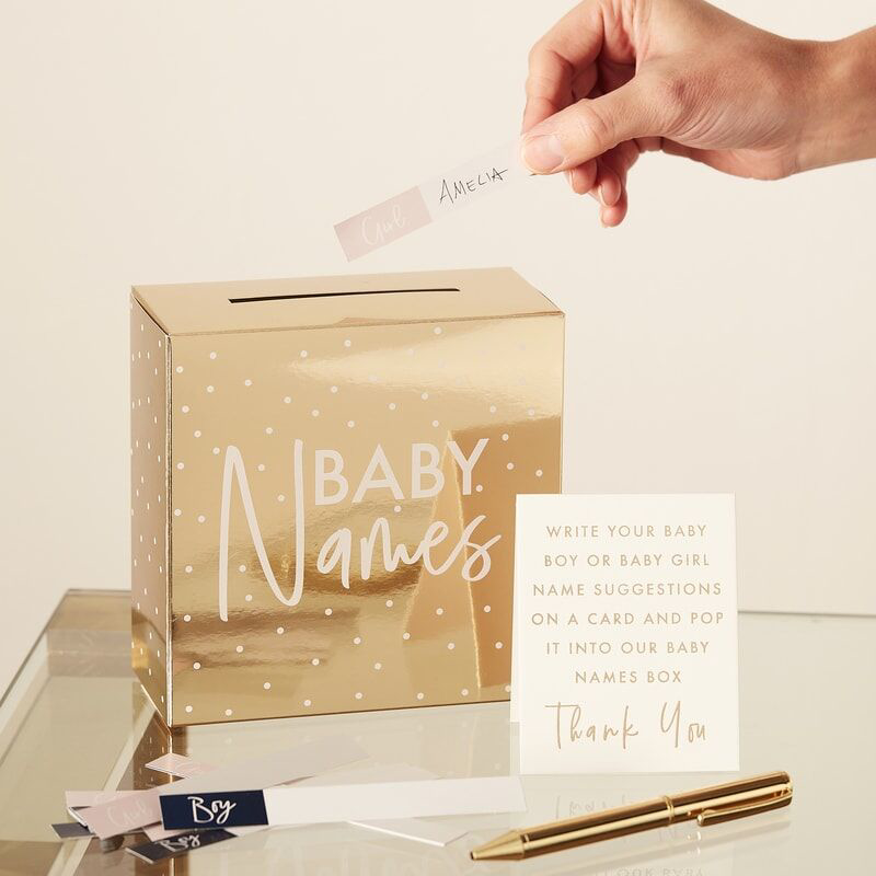 Picture of Ginger Ray® Gold Foiled Baby Names Box
