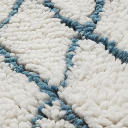 Picture of CamCam® Circular Woolen Harlequin Rug - Harlequin Petrol