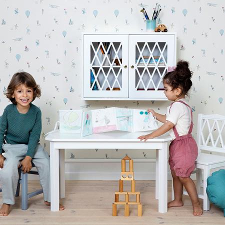 CamCam® Harlequin Kids Table - FSC White
