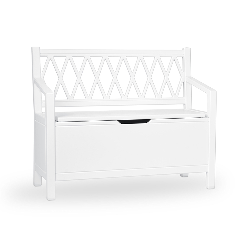 Picture of CamCam® Kids Storage Bench - White