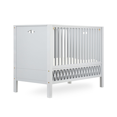 Picture of CamCam® Harlequin Baby Bed, Closed Ends 70x140 - Grey