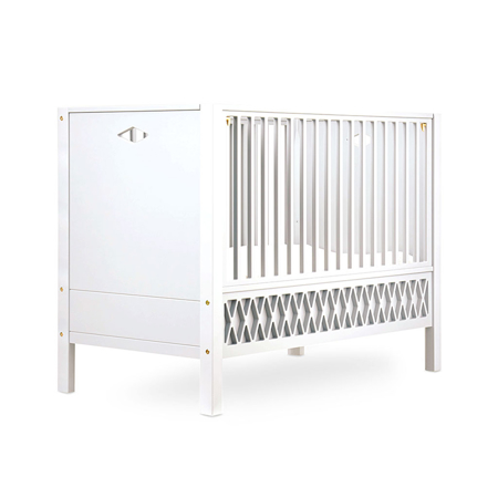 Picture of CamCam® Harlequin Baby Bed, Closed Ends 70x140 - White