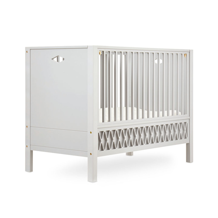 CamCam® Harlequin Baby Bed, Closed Ends 70x140 - Light Sand