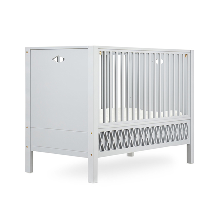 CamCam® Harlequin Baby Bed, Closed Ends 60x120cm - Grey