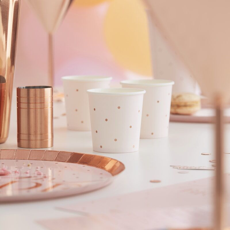 Picture of Ginger Ray® Rose Gold Foiled Shot Cups
