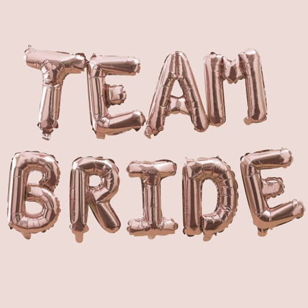 Picture of Ginger Ray® Rose Gold Team Bride Balloon Bunting