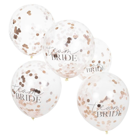 Ginger Ray® Rose Gold & Blush Confetti Balloons