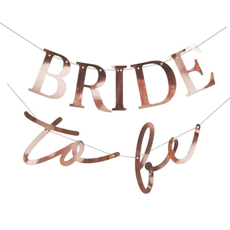 Picture of Ginger Ray® Rose Gold Bride To Be Bunting