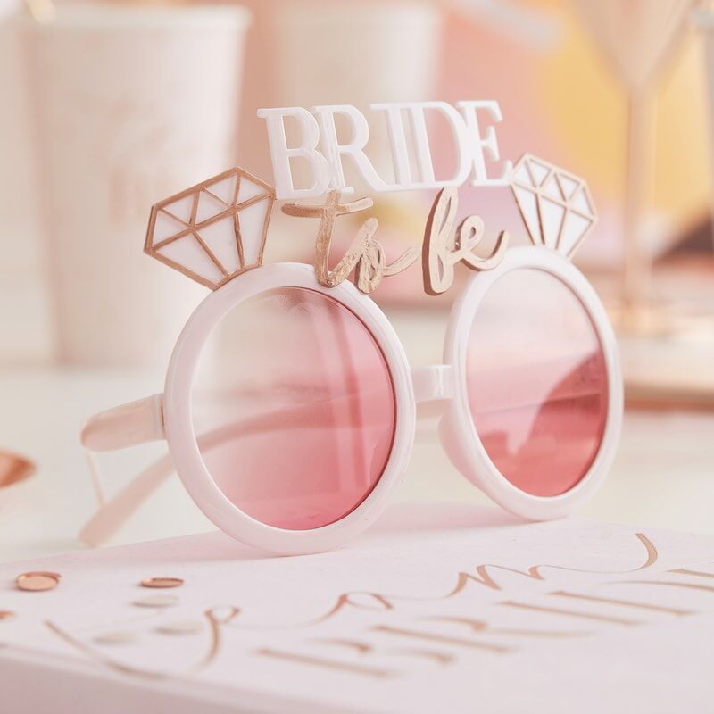 Picture of Ginger Ray® Rose Gold & Pink Bride To Be Sunglasses