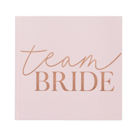 Picture of Ginger Ray® Blush Rose Gold Foiled Team Bride Guest Book