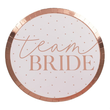 Ginger Ray® Rose Gold Team Bride Plate