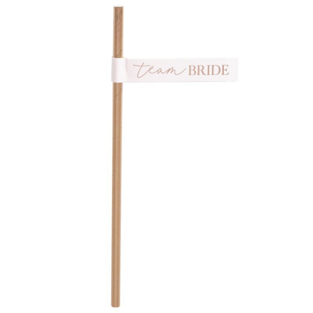 Ginger Ray® Rose Gold Team Bride Flag Straws