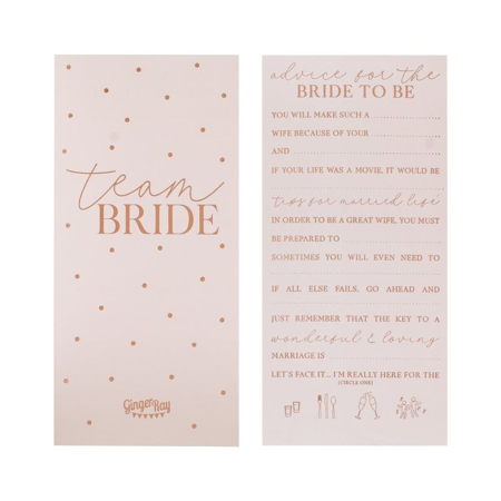 Picture of Ginger Ray® Rose Gold Foiled Advice Cards