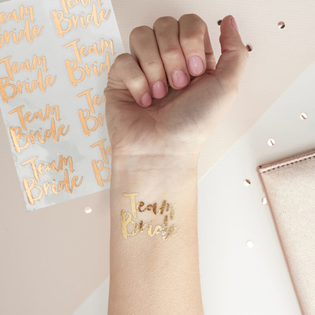 Picture of Ginger Ray® Team Bride Tattoos Rose Gold