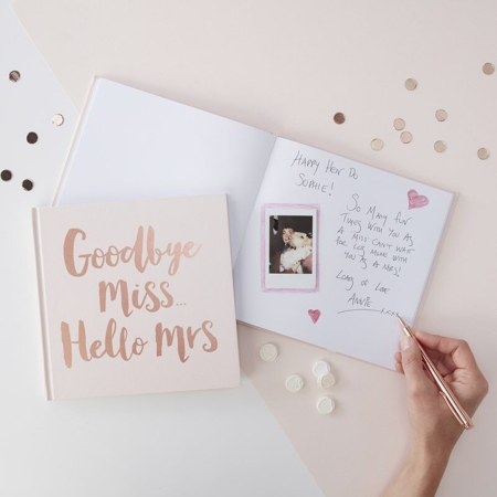Picture of Ginger Ray® Team Bride Advice Book Rose Gold