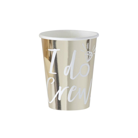 Ginger Ray® I Do Crew Cup Gold 8pcs
