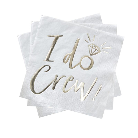 Picture of Ginger Ray® I Do Crew Napkin Foiled