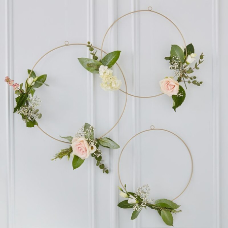 Picture of Ginger Ray® Gold Wedding Floral Hoops