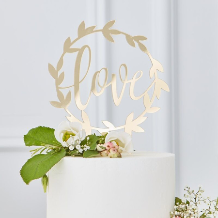 Picture of Ginger Ray® Gold Acrylic Cake Topper