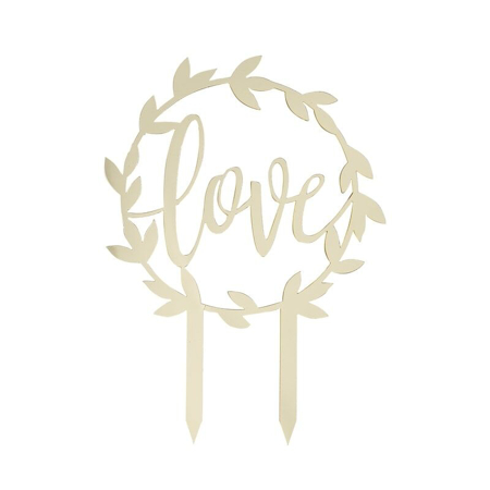 Ginger Ray® Gold Acrylic Cake Topper