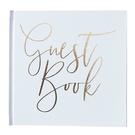 Picture of Ginger Ray® Guest Book Gold Foiled