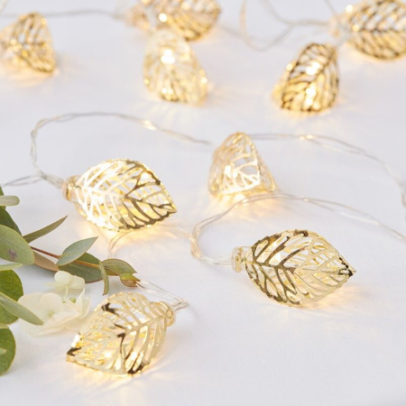 Picture of Ginger Ray® Gold Leaf String Lights