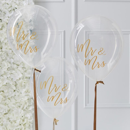 Picture of Ginger Ray® Mr & Mrs Balloons