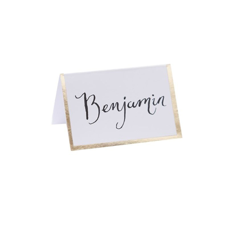 Ginger Ray® Place Card - Gold Foiled Border