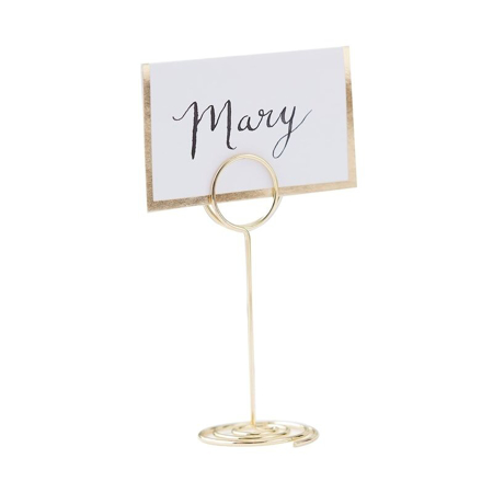 Ginger Ray® Place Card Holder Wire Circle Gold
