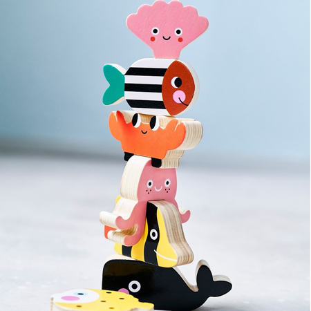 Picture of Petit Monkey® Wooden ocean stacker