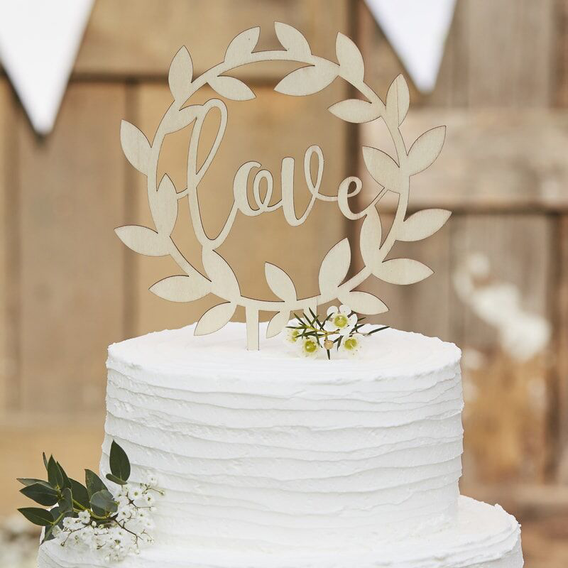 Picture of Ginger Ray® Cake Topper Wooden Love
