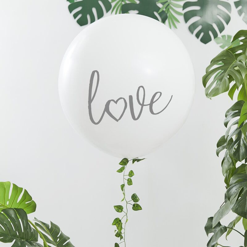 Picture of Ginger Ray® White Love 36 inch Balloon