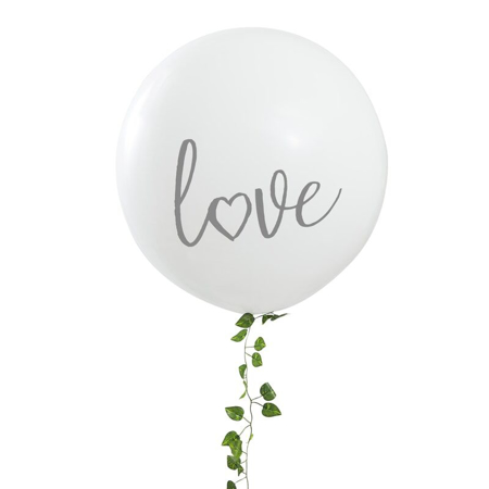 Ginger Ray® White Love 36 inch Balloon
