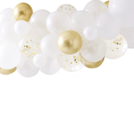 Picture of Ginger Ray® Gold Chrome Balloon Arch with Eucalyptus