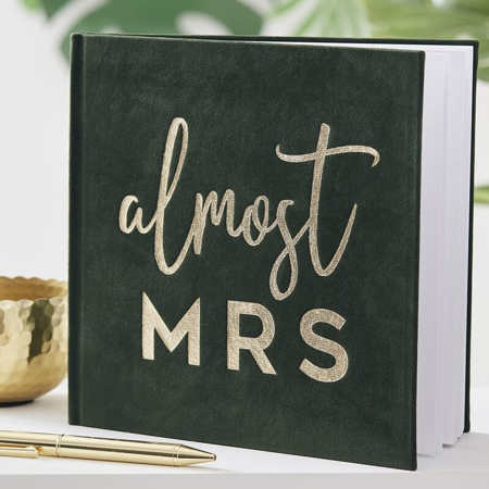 Picture of Ginger Ray® Green Gold Foiled Guest Book