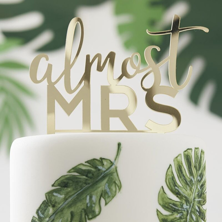 Picture of Ginger Ray® Cake Topper Almost Mrs