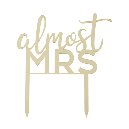 Ginger Ray® Cake Topper Almost Mrs