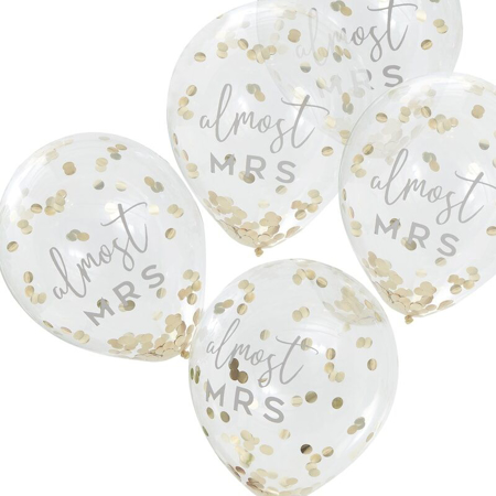 Ginger Ray® Confetti balloons Almost Mrs