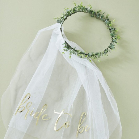 Picture of Ginger Ray® Eucalyptus Bridal Crown with Veil