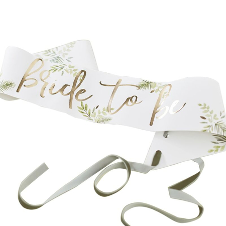 Picture of Ginger Ray® Sash Bride To Be Botanical