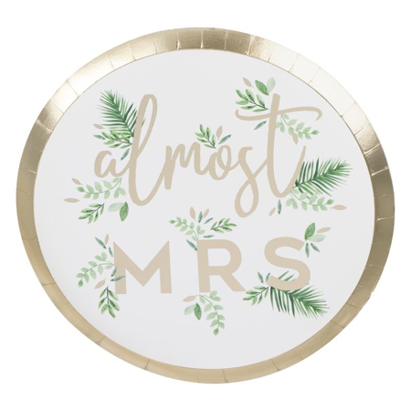 Picture of Ginger Ray® Goil Foiled Plate Almost Mrs