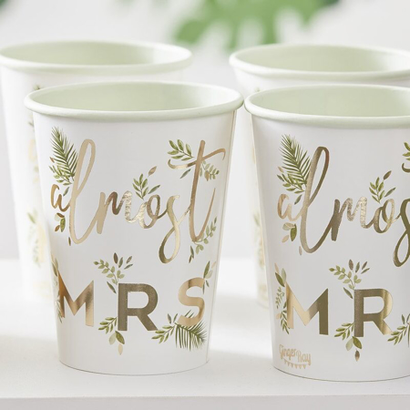 Picture of Ginger Ray® Gold Foiled 'Almost Mrs' Paper Cups