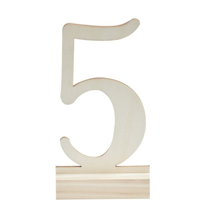 Picture of Ginger Ray® Table Numbers Wooden 1-12