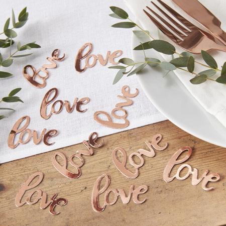 Picture of Ginger Ray® Rose Gold Confetti - Love