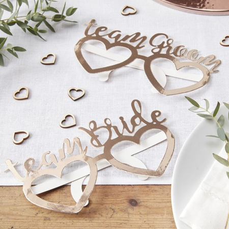 Picture of Ginger Ray® Glasses Team Bride Team Groom