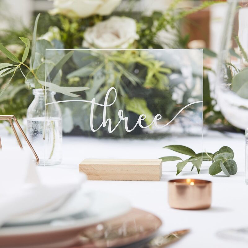 Picture of Ginger Ray® Wood & Acrylic Table Numbers